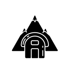 bivouac shelter black glyph icon vector image