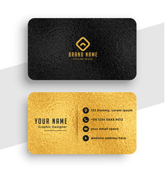 black and gold premium stylish business card vector image
