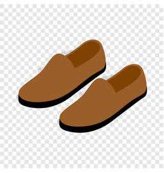 brown leather shoe isometric icon vector image