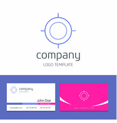 business card design with target company logo vector image