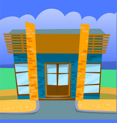 Cafe or restaurant in city urban place vector