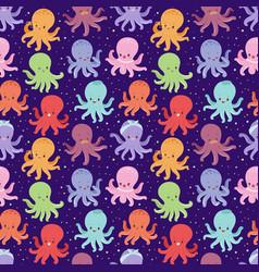 cartoon octopus character vector image