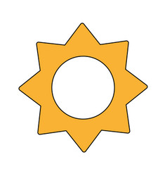cartoon radiant summer sun vector image