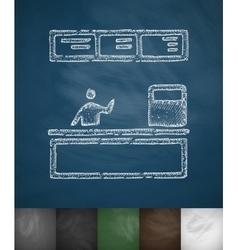 Cash desk icon vector