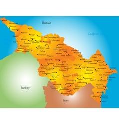 Caspian region countries vector
