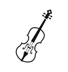 Cello icon in simple style vector