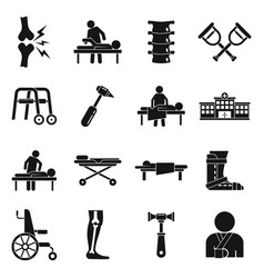 Chiropractor icons set simple style vector