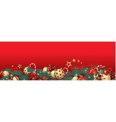Christmas garland banner vector