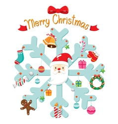 Christmas Ornaments Set Hanging and Decoration vector image