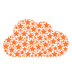 cloud mosaic of five pointed star icons vector image