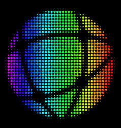 colored pixel network icon vector image