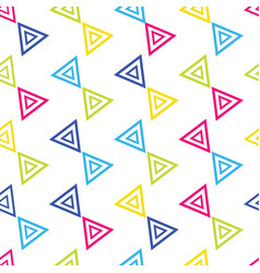 colorful triangular seamless repeat pattern on vector image