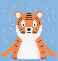 Cute tiger adorable character vector