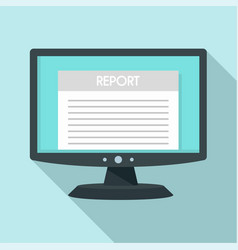 digital tax report icon flat style vector image