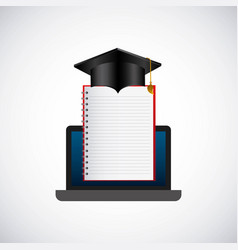 distance education elearning icon vector image