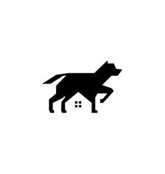 dog house pet home logo icon vector image