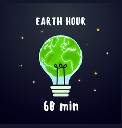 Earth hour banner background for earth vector