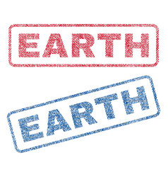 earth textile stamps vector image