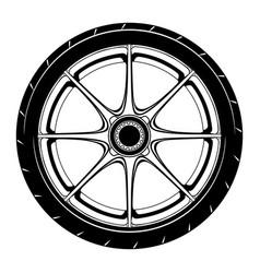 Flat car wheel 3 vector