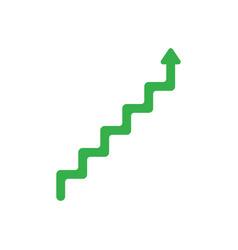 flat design style concept of line stairs symbol vector image