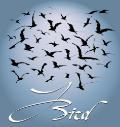 flock of birds vector image