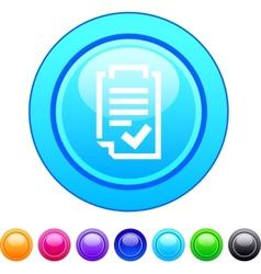 Form circle button vector image vector image