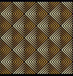 Golden seamless abstract geometric pattern vector