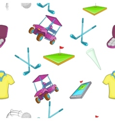 Golf pattern cartoon style vector
