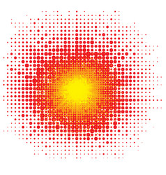 Halftone explode flash cartoon explosion dotted vector