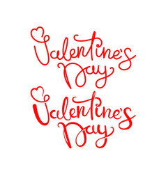 happy valentines day lettering inscriptions logos vector image