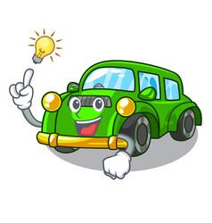 Have an idea classic car toys in cartoon shape vector