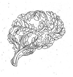 Healthy brain concept tree vector
