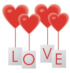 hearts balloons vector image