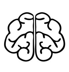 High quality original brain icon vector image
