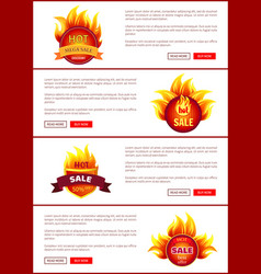hot sale badges and labels with promo discounts vector image