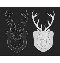 Hunting trophy Taxidermy dummy deer head vector