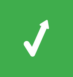 Icon concept of check mark with arrow moving up vector