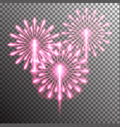 isolated realistic fireworks vector image