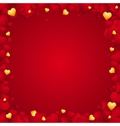 Lovely background hearts vector