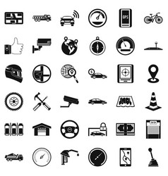 Machine icons set simple style vector