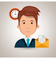 Man message document icon vector