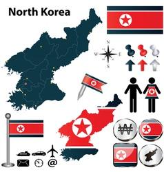 map north korea vector image