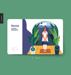 medical insurance template - home medical vector image