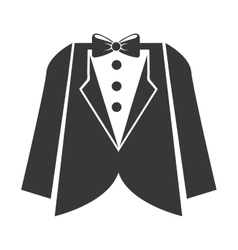 Mens wedding suit isolated icon design vector