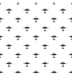 Military fighter aircraft pattern simple style vector image