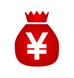 money bag icon yen icon vector image