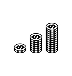 Money simple icon vector image