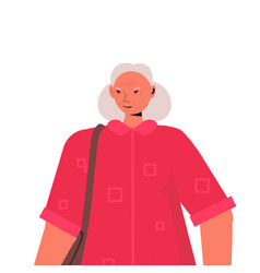 old woman in casual trendy clothes senior female vector image