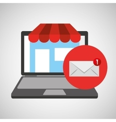 Online store shopping email graphic vector