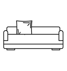 relax sofa icon outline style vector image
